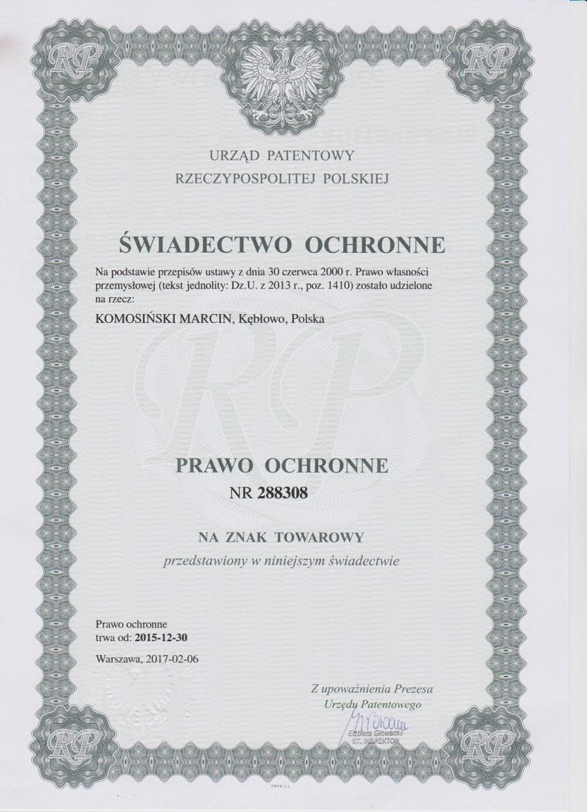 BP.SWIADECTWO OCHRONNE