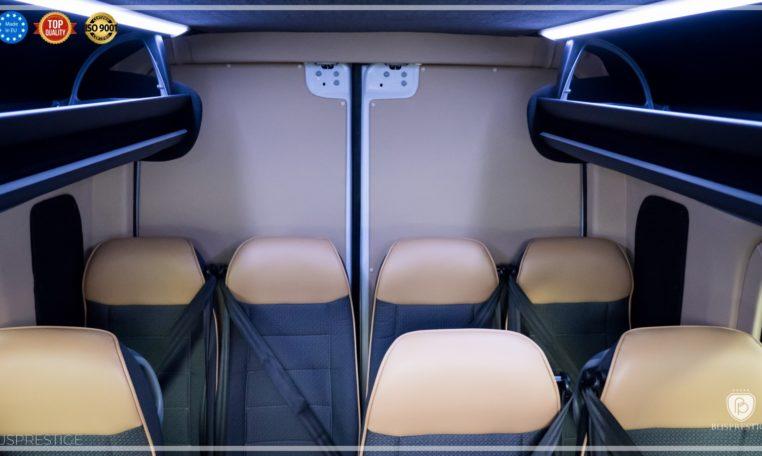 mercedes bus rear door upholstery