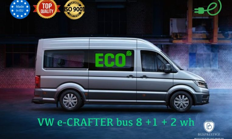 VW e-Crafter 35 electric bus made by Buspresitge minibus 8+1+2WH